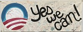 view Banner from the 2008 Obama campaign headquarters in Columbia, Missouri digital asset number 1