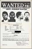 view FBI Wanted poster for Leroy Eldridge Cleaver digital asset number 1