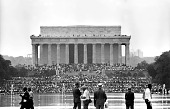 view <I>March on Washington--Marchers Gathering at the Lincoln Memorial</I> digital asset number 1
