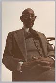 view Color photograph of Eubie Blake during modeling sessions for artist Bob Walker digital asset number 1