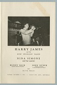 view Program for a performance by Harry James and Nina Simone in Montreal digital asset number 1