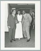 view Photograph of Nina Simone, Langston Hughes, and Godfry Cambridge digital asset number 1