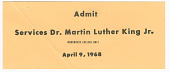 view Ticket for funeral services for Martin Luther King, Jr. owned by Nina Simone digital asset number 1