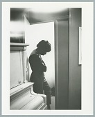 """view Photograph of Nina Simone recording the song """"Don't Let Me Be Misunderstood"""" digital asset number 1"""