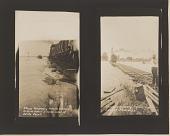 view Gelatin silver print of two 1927 Mississippi River flood images digital asset number 1