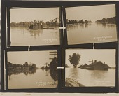 view Gelatin silver print of four 1927 Mississippi River flood images digital asset number 1