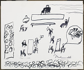 view Sketch by Muhammad Ali of his 1967 trial digital asset number 1