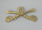 view Insignia pin for the 10th Cavalry Regiment digital asset number 1