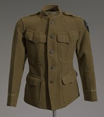 view World War I enlisted soldier's tunic and cigarette holder digital asset number 1