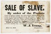 view Broadside for the sale of an enslaved boy named Ben digital asset number 1