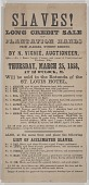 view Broadside for a New Orleans auction of 18 enslaved persons from Alabama digital asset number 1