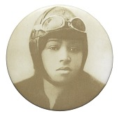 view Pinback button featuring a portrait of Bessie Coleman digital asset number 1