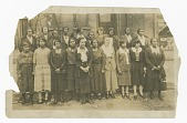 view Photograph of Lucille Brown among Poro agents and one small child digital asset number 1