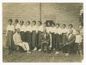 view Photograph of Lucille Brown and Elder Brown among others digital asset number 1