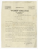 view Letter to Lucille Brown from Annie Malone Pope-Turnbo digital asset number 1