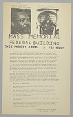 view Handbill for Martin Luther King, Jr. Mass Memorial digital asset number 1