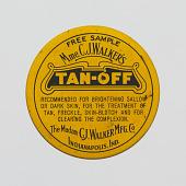 "view Tin for Madam C. J. Walker's ""Tan-Off"" digital asset number 1"