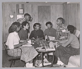view Photograph of seven of the Little Rock Nine meeting at the home of Daisy Bates digital asset number 1