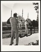 view <I>James Baldwin conversing with sailors from the U.S. Sixth Fleet in front of the Blue Mosque, Istanbul, 1965</I> digital asset number 1