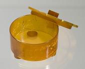 view Bakelite powder box from dresser set owned by Lena Horne digital asset number 1
