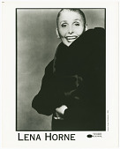 view Photograph of Lena Horne in a fur coat digital asset number 1
