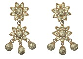 view Pair of pavé style earrings worn by Lena Horne digital asset number 1