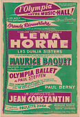 view Poster for a Lena Horne performance at the Olympia Music Hall digital asset number 1
