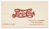 view Business card for Pepsi-Cola employee Philip G. Kane digital asset number 1