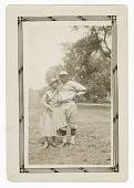 view Photograph of a male baseball player and a woman digital asset number 1
