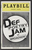 view Playbill for Def Poetry Jam on Broadway digital asset number 1