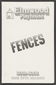 view Theatre program for Fences digital asset number 1