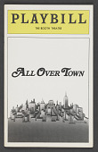 view Playbill for All Over Town digital asset number 1