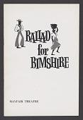 view Theatre program for Ballad for Bimshire digital asset number 1