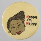 view Pinback button saying Happy I'm Nappy digital asset number 1