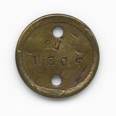 view Identification tag for Civil War soldier Qualls Tibbs digital asset number 1