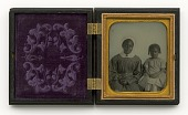view Ambrotype of an unidentified woman and child digital asset number 1