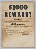 view Broadside offering reward for capture of George, Jefferson, Esther, and Amanda digital asset number 1