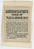 view Broadside for sale of enslaved woman and children from estate of Joseph McCoy digital asset number 1