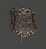 view Shield-shaped identification pin for William H. Clay digital asset number 1
