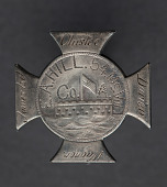 view Silver badge for Alexander Hill of the 54th Massachusetts Infantry digital asset number 1