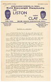 view Document with biographical sketch of Cassius Clay digital asset number 1
