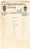 view Document listing physical measurements for Sonny Liston and Cassius Clay digital asset number 1