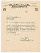 view Letter to Dorothy Porter from W.C. Handy digital asset number 1