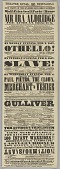 view Playbill for Ira Aldridge in Othello and The Slave at the Theatre Royal digital asset number 1