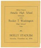 view Football program for Booker T. Washington High School digital asset number 1