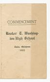 view Commencement program for Booker T. Washington High School digital asset number 1