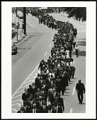 view <I>In a Show of Support that Brought Together Different Factions of the Movement, Civil Rights Leaders Joined Funeral Procession of NAACP Activist Medgar Evers, Jackson, Mississippi, 1963</I> digital asset number 1
