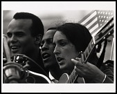 view <I>Joan Baez, Selma to Montgomery March, 1965</I> digital asset number 1