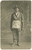 view Photographic postcard of Daniel Hendricks in Masonic regalia digital asset number 1