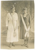 view Photographic postcard of Magdalene Hendricks and sister in Eastern Star regalia digital asset number 1